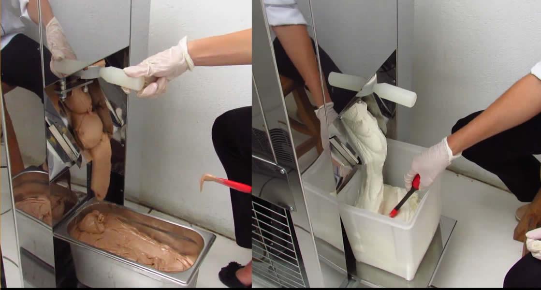 extração maquina de fazer sorvete