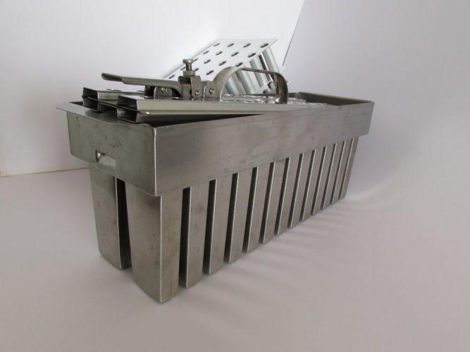 Conjunto forma, extrator e alinhador para maquina de paleta mexicana
